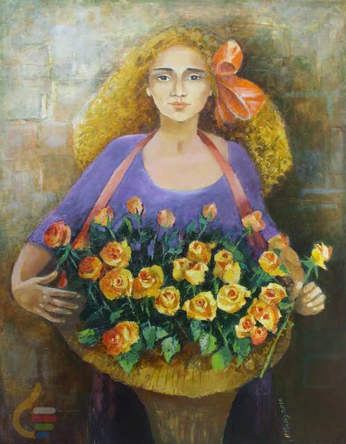 Sztuka Polska Galeria Kulig Radziszewska Mala Kwiaciarka C5395dad51a56264b908006933f8aa17