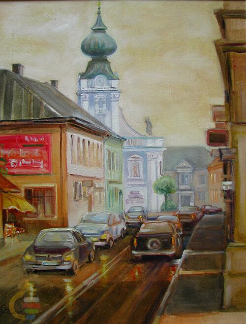 Sztuka Polska Galeria Wojtowicz Cichon Wadowice W Deszczu B3626058bfd032a6572835315f21ab10